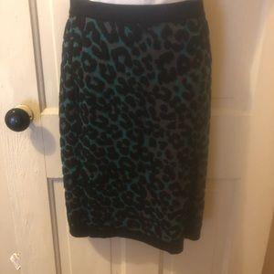 Women's M UO brand leopard print knit midi